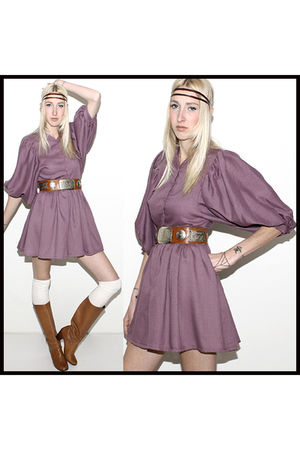 purple vintage from american archive dress