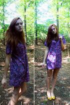 violet thrifted dress - Steve Madden wedges