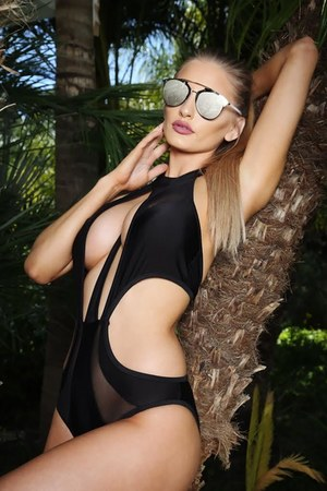 black AmiClubWear swimwear - silver AmiClubWear glasses