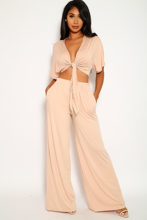 peach two piece set AmiClubWear pants