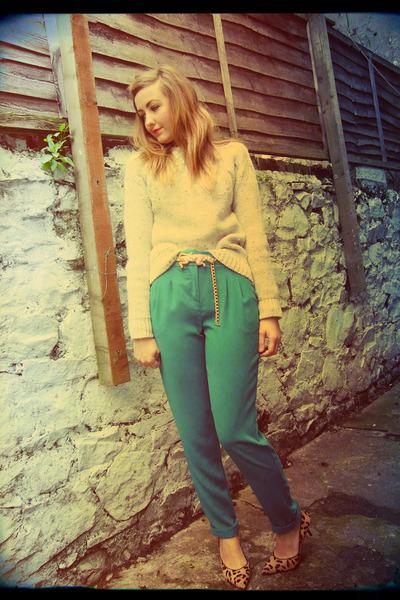 tawny leopard dune heels - dark green peg Primark pants