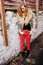 Ruby-red-skinny-whistles-jeans-black-clarks-boots