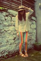 red Topshop jeans - cream Gap shirt - tawny Primark sandals
