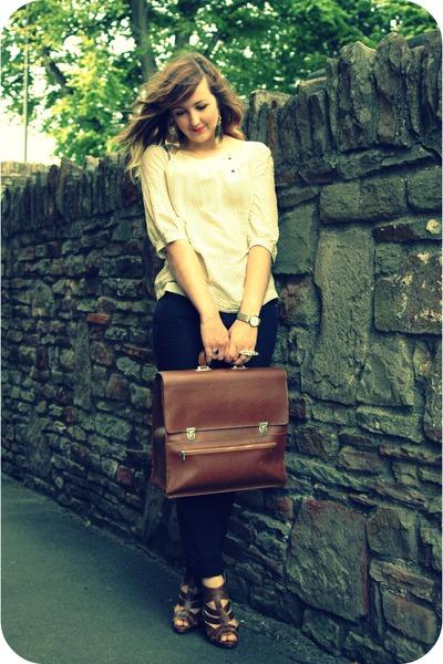 eggshell silk quiksilver womens blouse - dark brown gladstone bag vintage bag