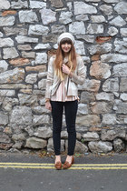 beige cashmere Crumpet jacket - black Gap jeans - brown Topshop loafers