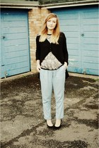 snakeskin staccato shoes - silk snakeskin Zara top - peg warehouse pants
