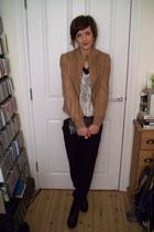 asos jacket - Topshop top - River Island pants - Topshop boots - vintage accesso
