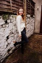 black skinny ASOS White Lable jeans - black lita style bullboxer boots