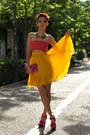 Yellow-chicwish-sunglasses-bronze-romwe-necklace-yellow-thrifted-skirt
