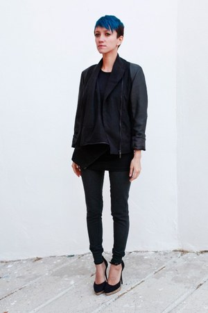 black romwe jacket - dark gray Primark pants