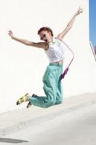 aquamarine thrifted pants