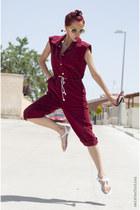 maroon jumpsuit vintage jumper