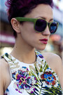 Olive-green-firmoo-sunglasses-purple-ax-paris-dress