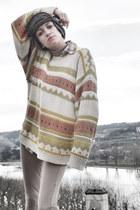 tan vintage sweater