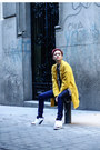 Yellow-sheinside-coat-navy-salsa-jeans-black-black-and-white-chicwish-shirt