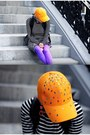 Carrot-orange-cap-diy-hat-lime-green-asos-shoes-purple-we-love-colors-tights