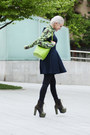 Black-ax-paris-dress-chartreuse-vintage-bag