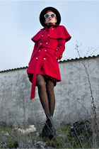red wool amintaonline coat