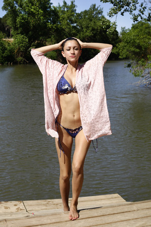 light pink Now I Style dress - navy Santa Maria swimwear