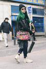Ivory-panama-jack-boots-black-beanie-shana-hat-hot-pink-handmade-bag