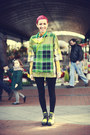 Chartreuse-asos-boots-yellow-diy-necklace-green-asos-blouse