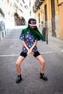 Black-asos-shoes-green-wig-wonderland-wigs-hat-black-cap-kaotiko-hat