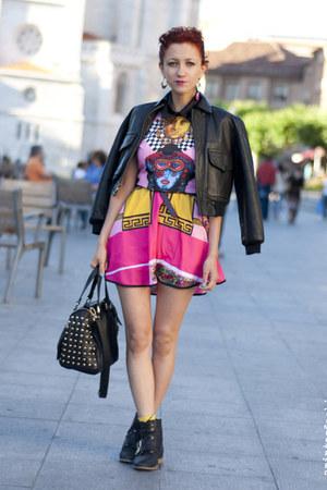 vintage Shoppalu jacket - Sheinside dress