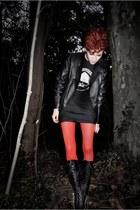 black Ebay boots - black por los viejos tiempos shirt