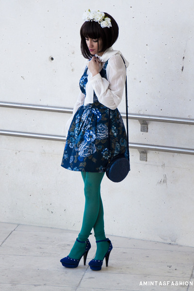 fridays project dress - vintage bag - riverside blouse