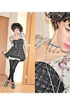 Area Code dress - American Apparel tights - el corte ingles socks - DIY necklace