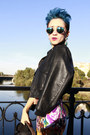 Blue-from-mexico-handmade-shoes-black-flaunt-dress-black-shoppalu-jacket