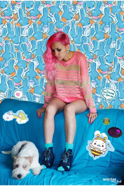 salmon Now I Style cardigan - aquamarine We Love Colors socks