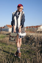 Bershka pumps - riverside dress - Springfield jacket - BLANCO bag - BLANCO vest