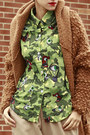 Camel-now-i-style-jacket-olive-green-zulamimi-land-shirt