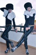 black Bershka blouse - black Bershka pants - silver Shasa accessories - bronze S