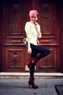 Brown-cinderella-boots-off-white-esther-noriega-jacket-black-pants-pants