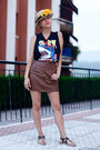 Black-alpe-shoes-sandals-red-giant-vintage-sunglasses-brown-h-m-skirt