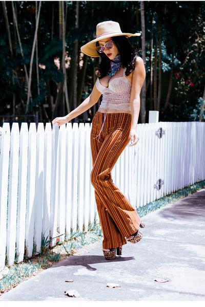 burnt orange thrifted vintage pants