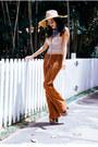 Burnt-orange-thrifted-vintage-pants