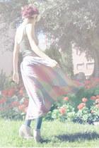 bubble gum vintage skirt - heather gray American Apparel bodysuit