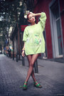 Lime-green-80s-vintage-sweater-green-clarks-sandals