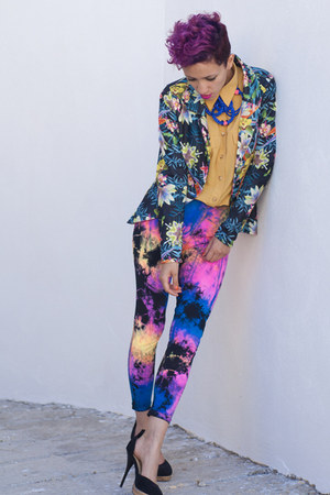 amethyst We Love Colors leggings - black AX Paris blazer