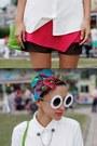White-romwe-sunglasses-chartreuse-vintage-bag-white-mango-blouse