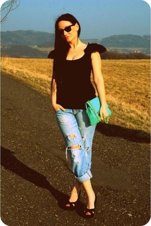 pull&bear bag - asos bodysuit - reno heels