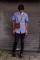 Zara shirt - H&M jeans - Zara shoes - gift of my friend Jean Franco purse