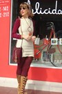 Tawny-boots-cream-salvation-army-dress-maroon-we-love-colors-tights