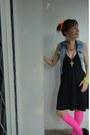 Jacket-dress-earrings-stockings-bracelet-accessories