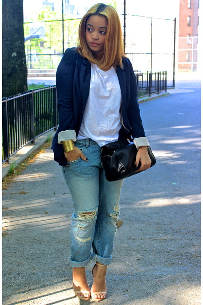 Navy Boyfriend H Amp M Blazers Light Blue Boyfriend Zara