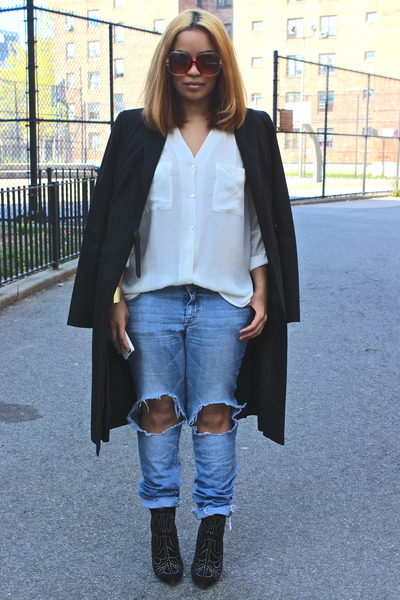 H&M DIY Distressed Jeans | Chictopia