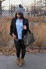 Light-brown-zara-boots-black-vjstyle-leggings